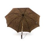 Parapluie anglais de marche tissé dragons bordeaux