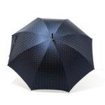 Parapluie luxe droit tissé bleu
