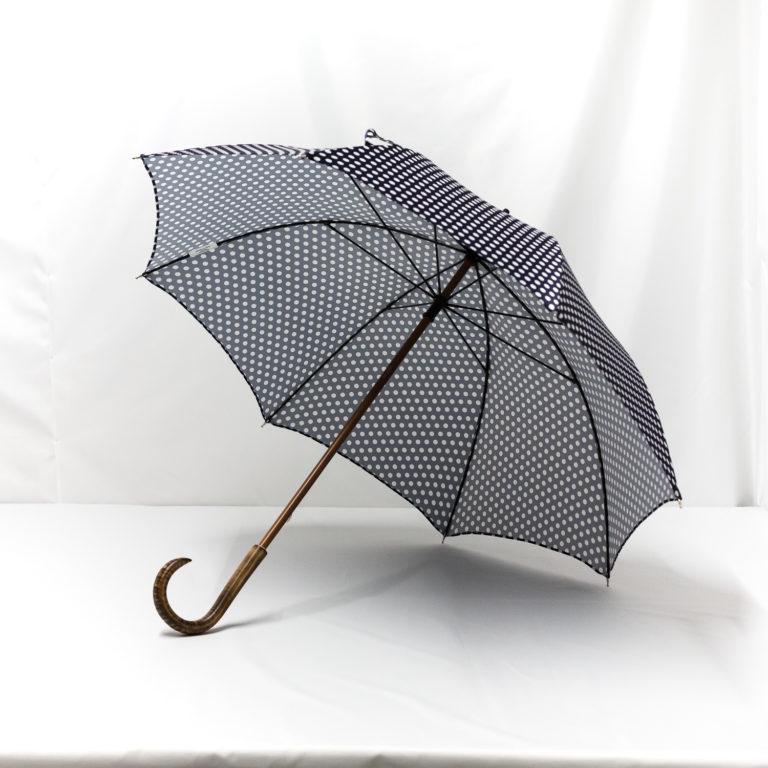 Parapluie droit imprimé à pois
