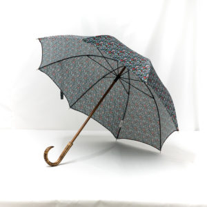 Parapluie droit imprimé liberty bleu