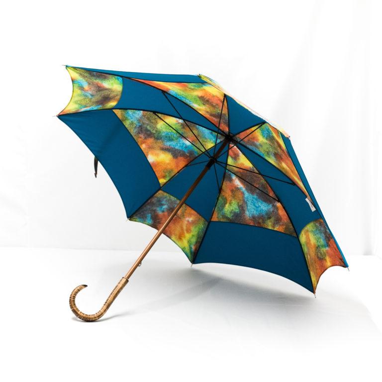 Parapluie carré batik bleu