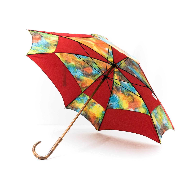 Parapluie carré batik rouge