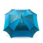 Parapluie carré fleurs bleues cobalt
