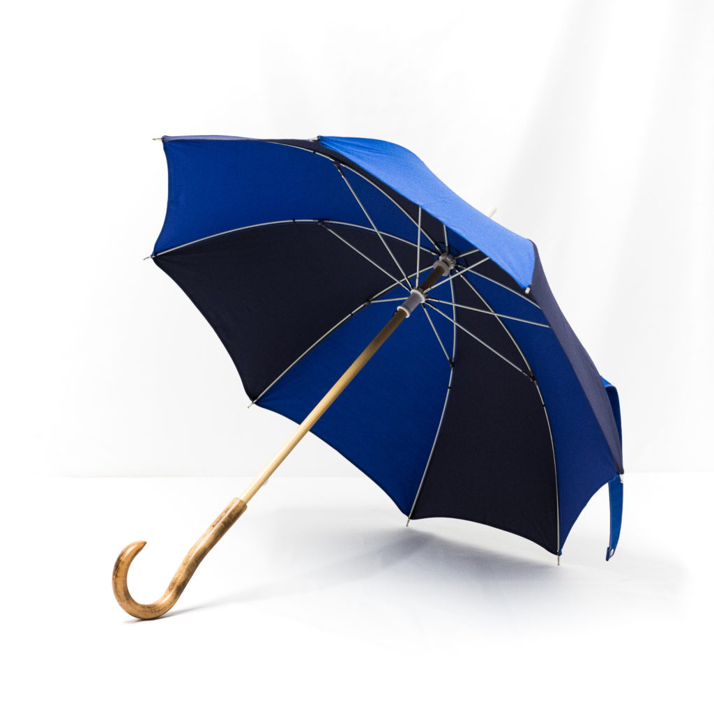 Parapluie enfant bleu roi et bleu marine