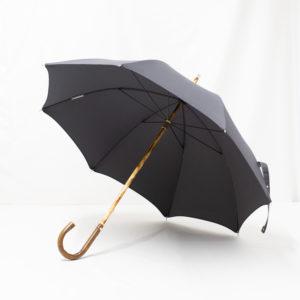 Parapluie anglais de marche gris anthracite