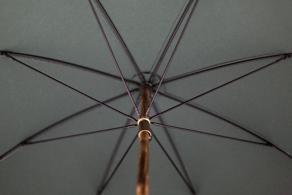Parapluie anglais de marche vert
