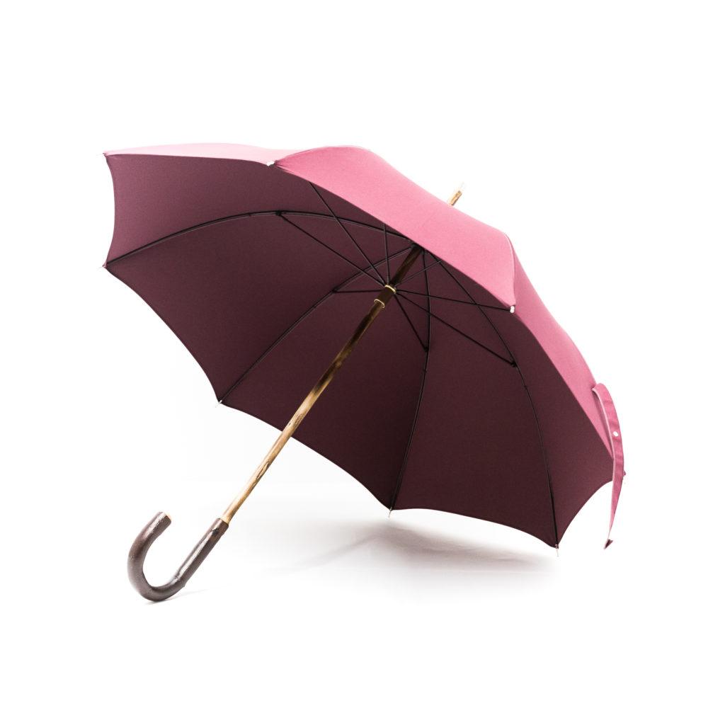 Parapluie anglais de marche prune