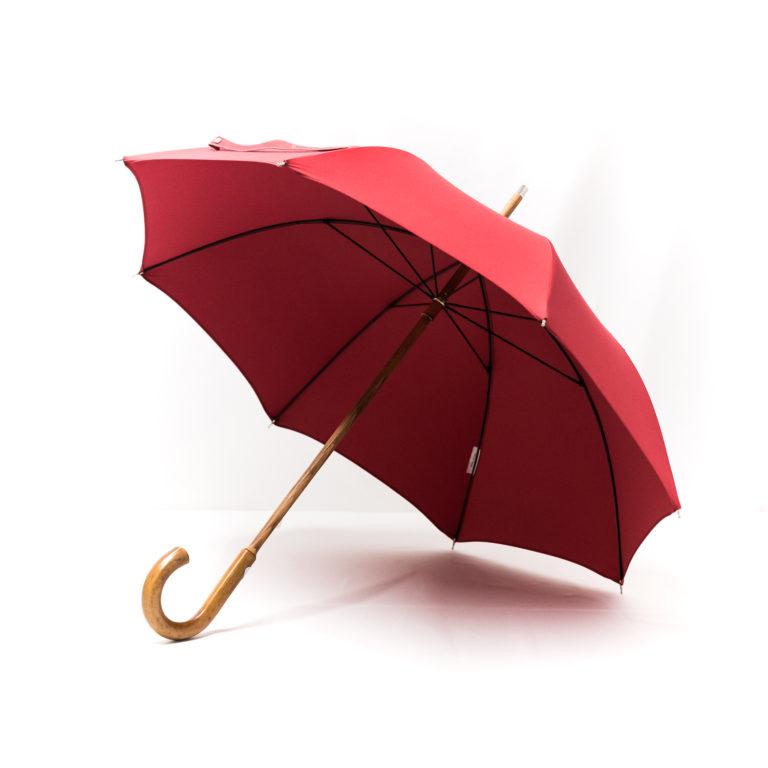 Parapluie anglais de marche rouge