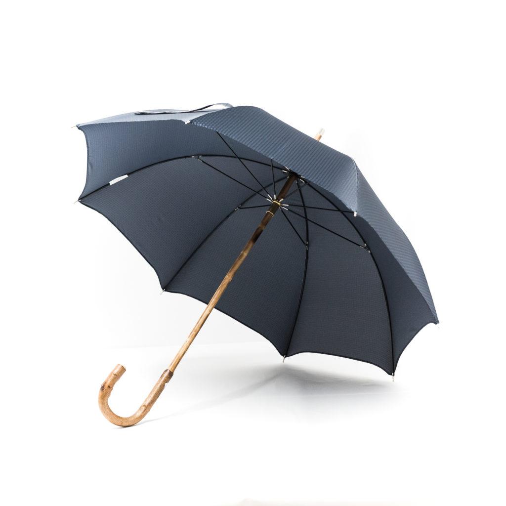 Parapluie chic anglais de marche tissé petits carreaux bleus