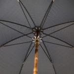 Parapluie de marche tissé chic petits carreaux bleus