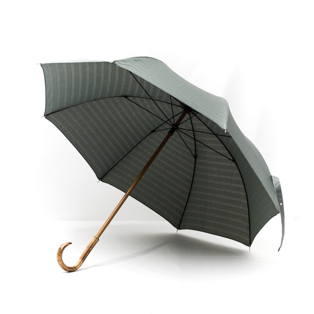 Grand parapluie homme tissé prince de galles
