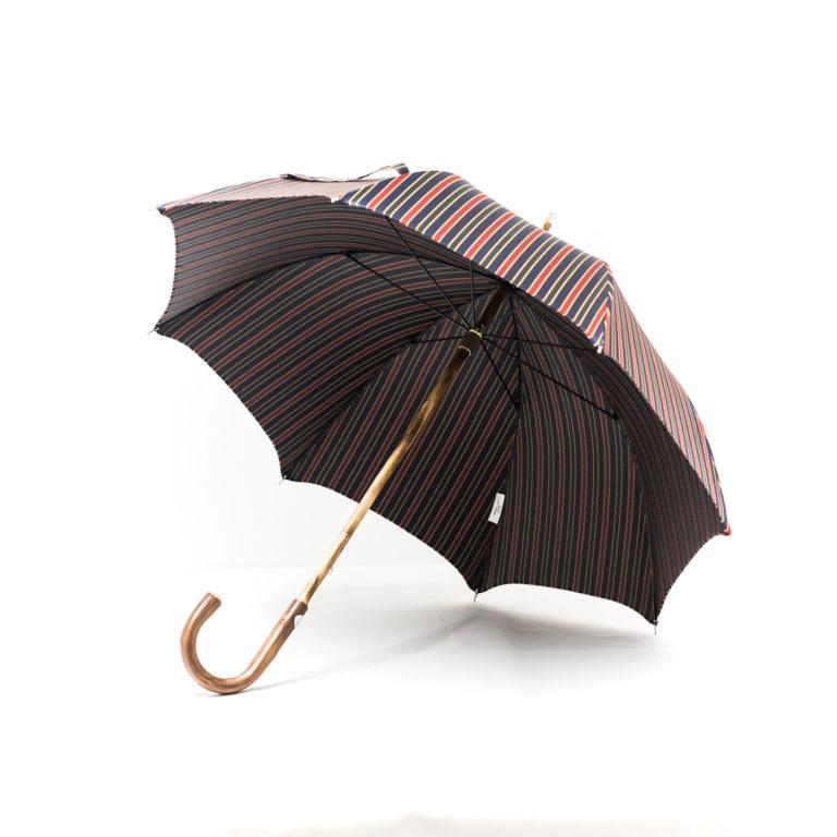 Parapluie anglais de marche tissé rayures colorées