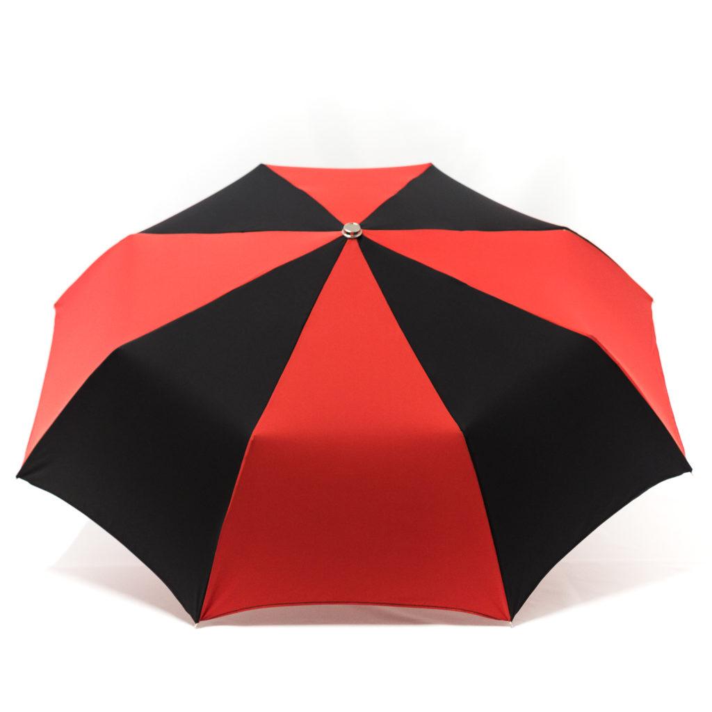 Parapluie pliant classique rouge et noir