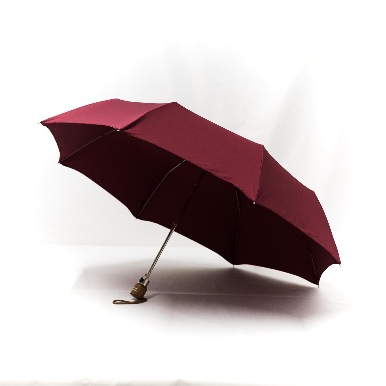 Parapluie pliant classique bordeaux