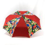 Parapluie pliant imprimé multicolore rouge