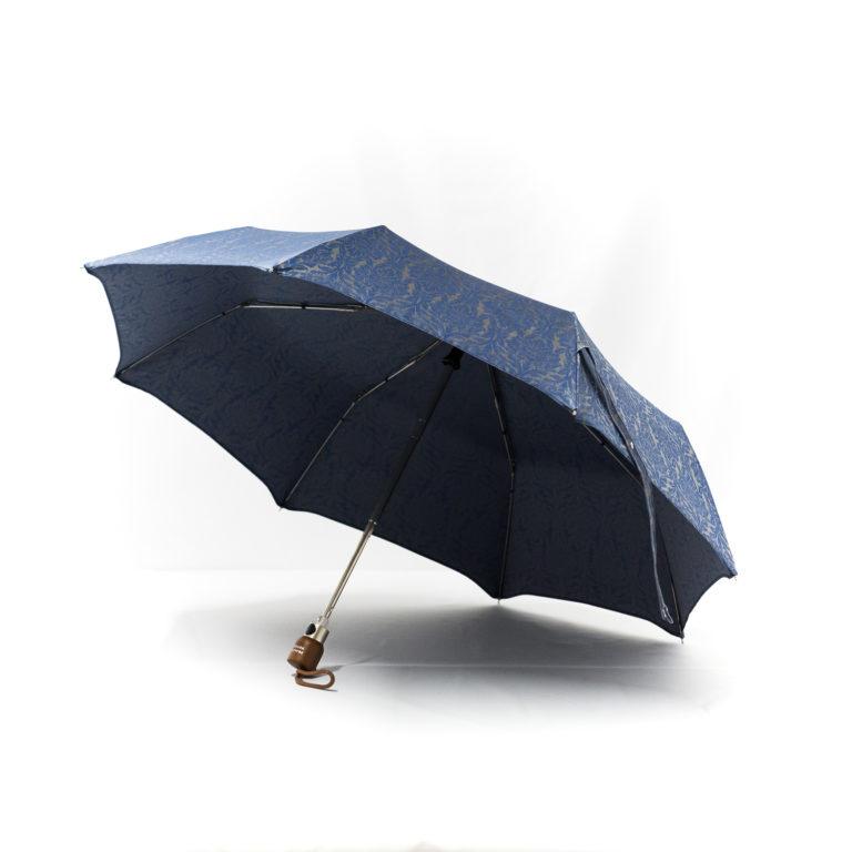 Parapluie pliant femme tissé baroque bleu
