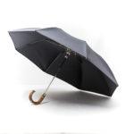 Parapluie pliant homme gris anthracite
