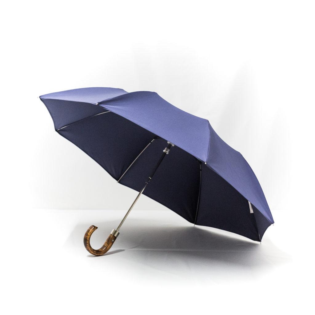 Parapluie pliant homme bleu marine