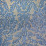 Tissage jacquard baroque bleu
