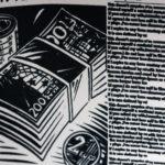 Tissu journal imprimé